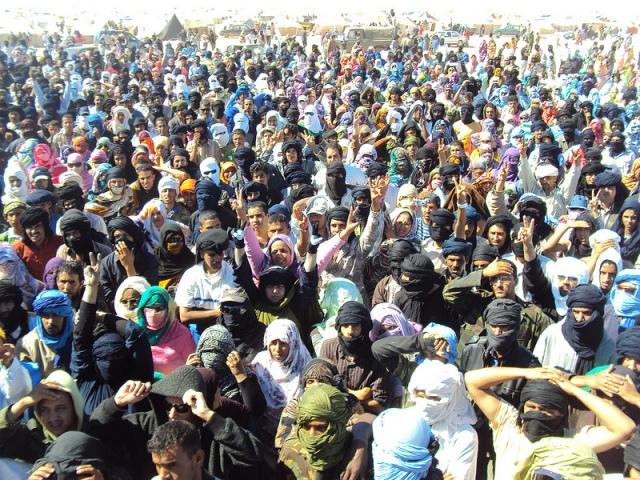 Campamento de Gdeim Izik.Fuente: http://www.documental-gdeim-izik.tk